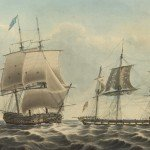 The HMS Shannon captures the USS Chesapeake in the War of 1812