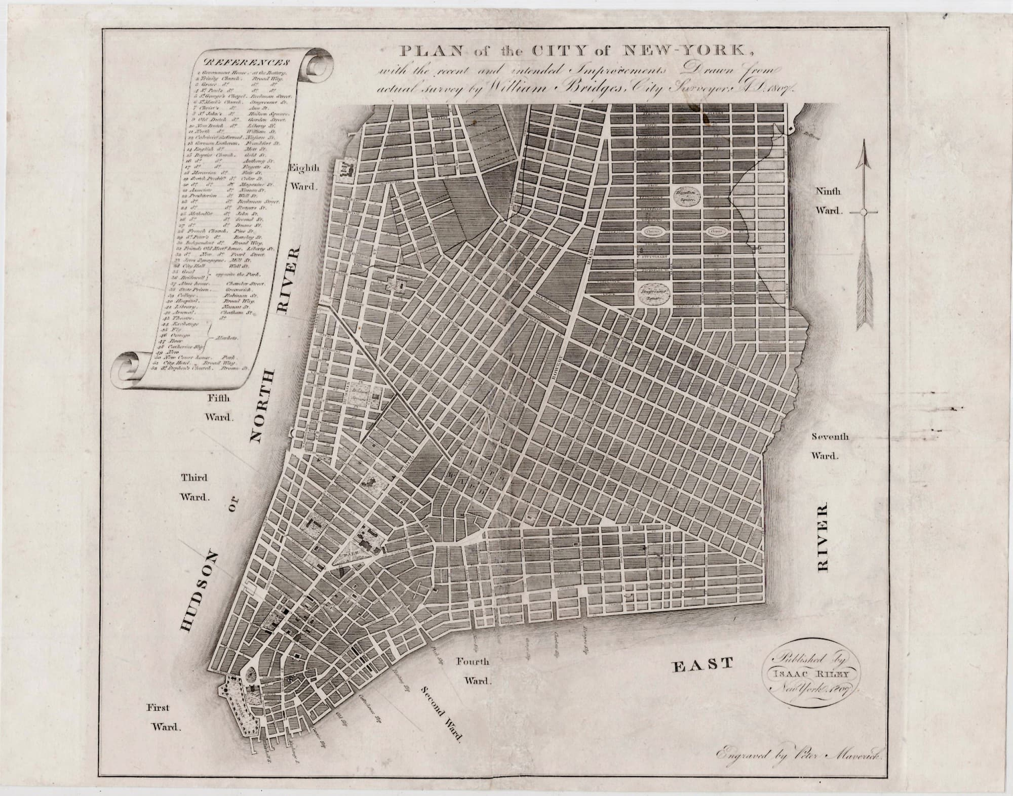 A Most Unusual Early Map Of Lower Manhattan Rare  Antique Maps - Nyc map lower manhattan