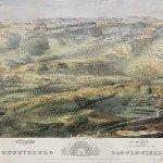 BRM2363 Bachelder Gettysburg birds eye 1863