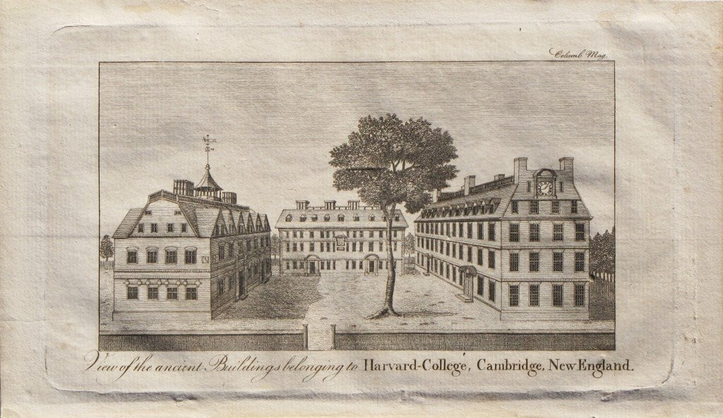 The first obtainable print of Harvard