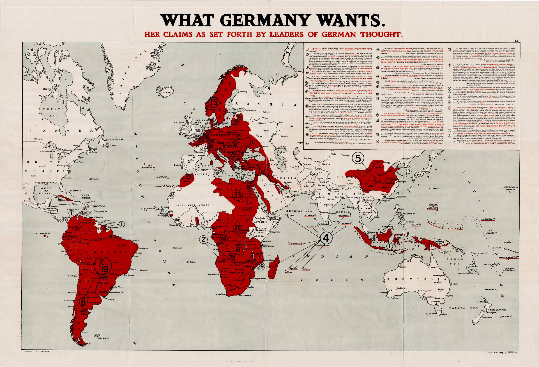 First World War Propaganda Map Rare Amp Antique Maps