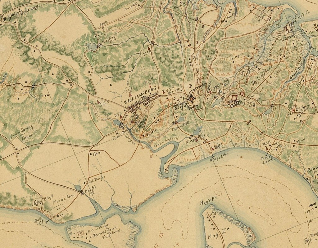 A major manuscript map of the southern virginia peninsula rare share this map gumiabroncs Gallery