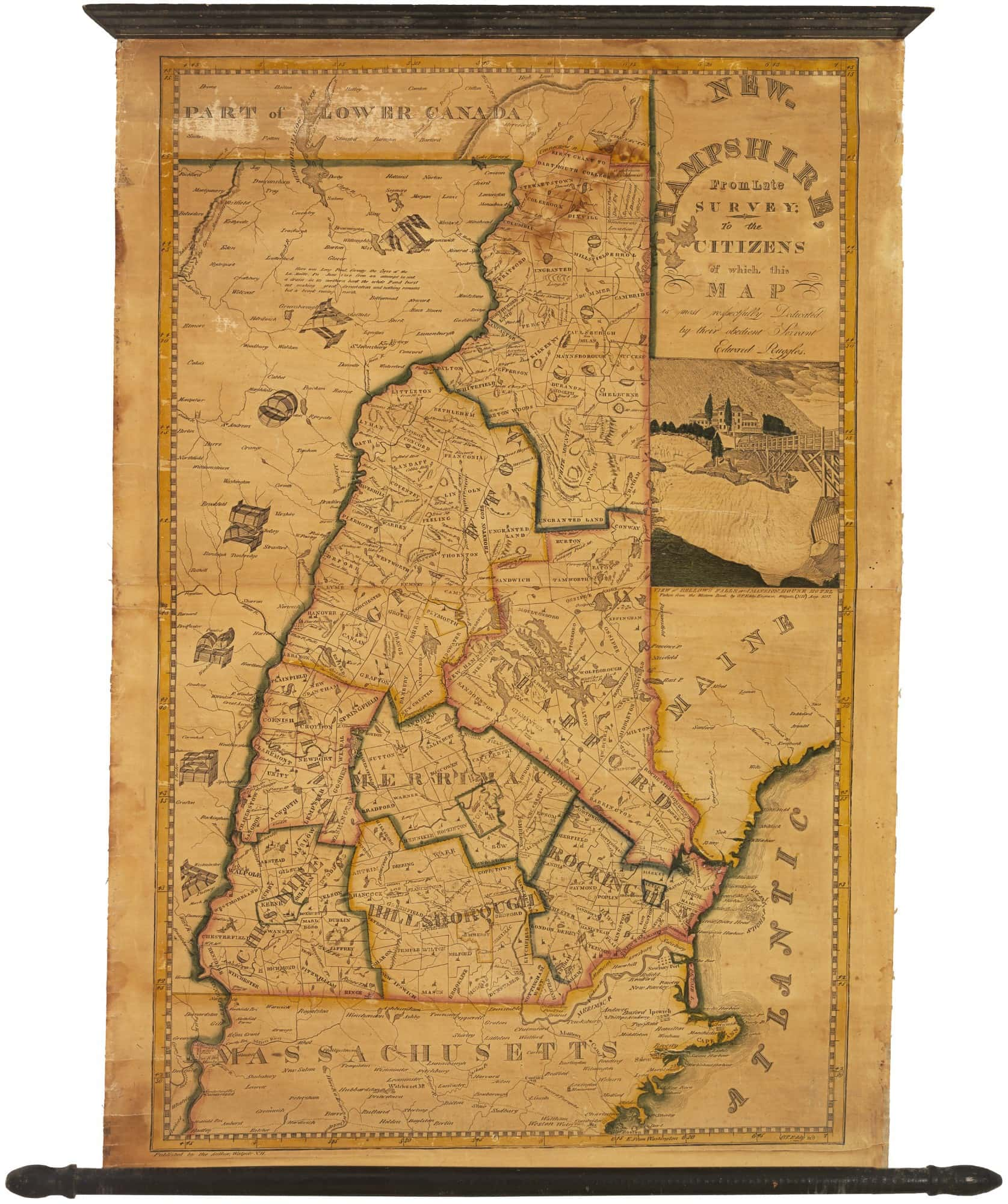 Charming Piracy Of The Carrigain Map Of New Hampshire Rare - Map of nh
