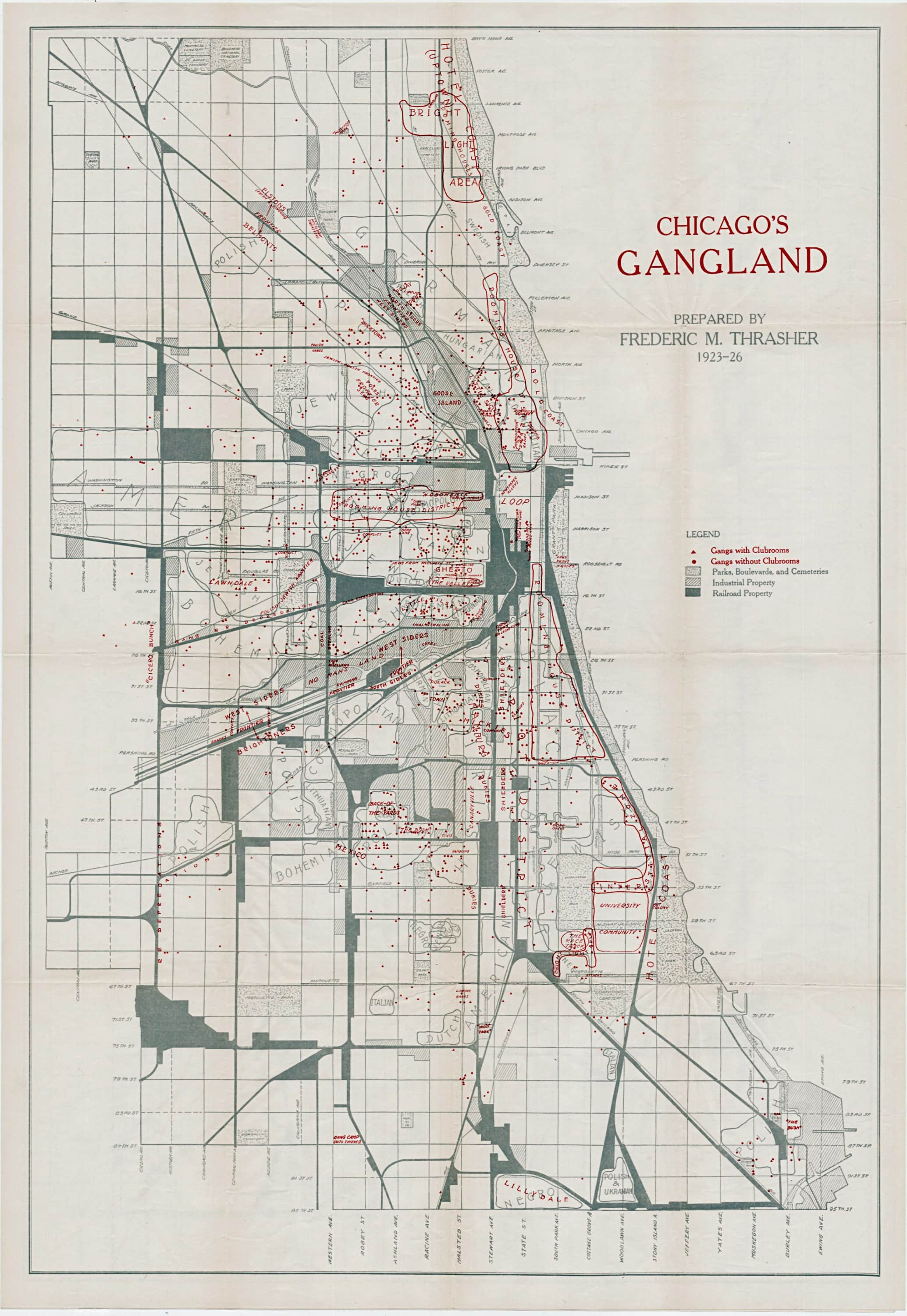 Mapping Chicagos Gangland during the Roaring Twenties  Rare