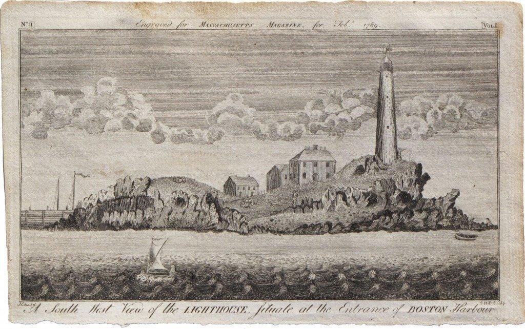 Boston Light in 1789