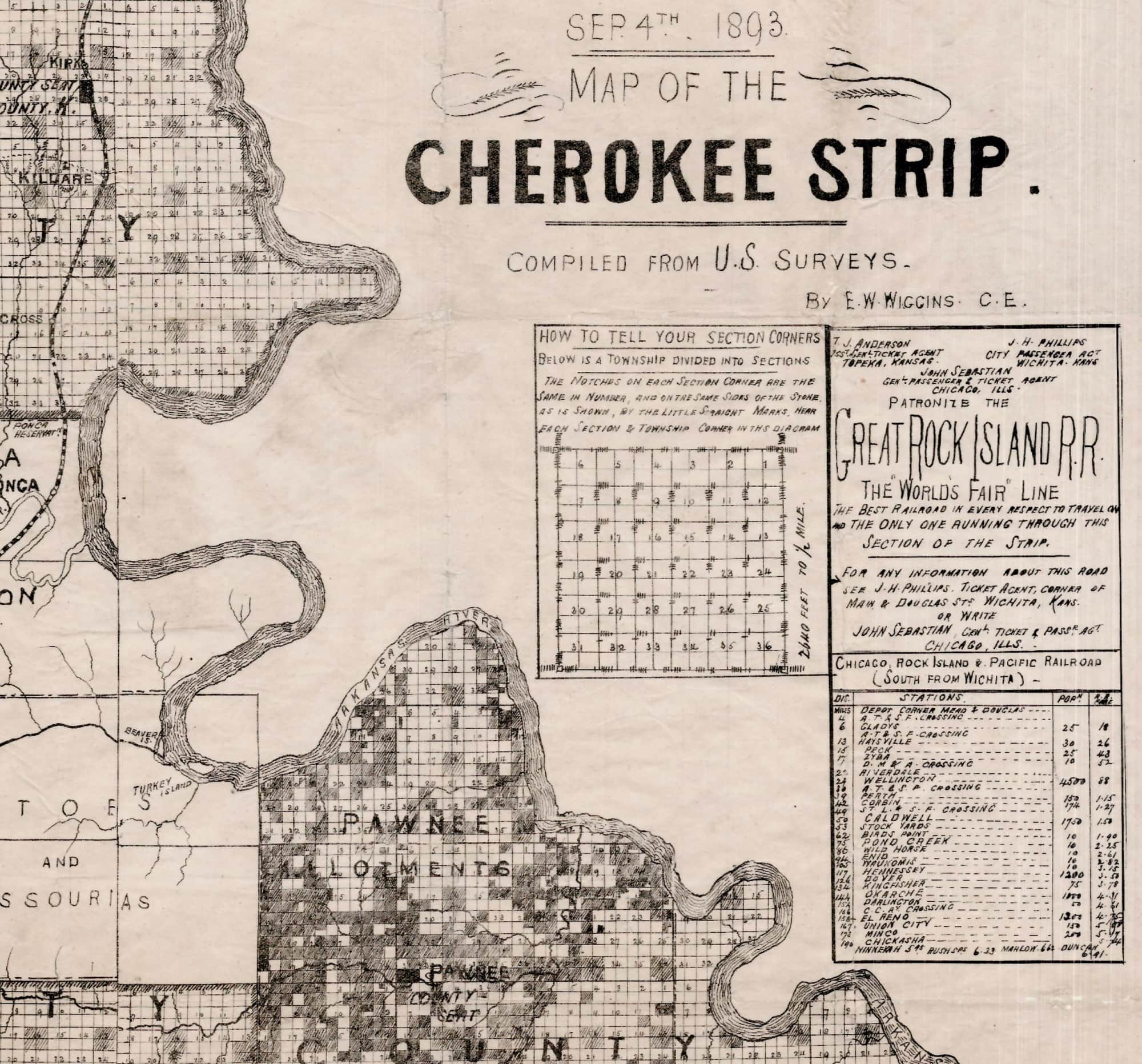 cherokee land run strip