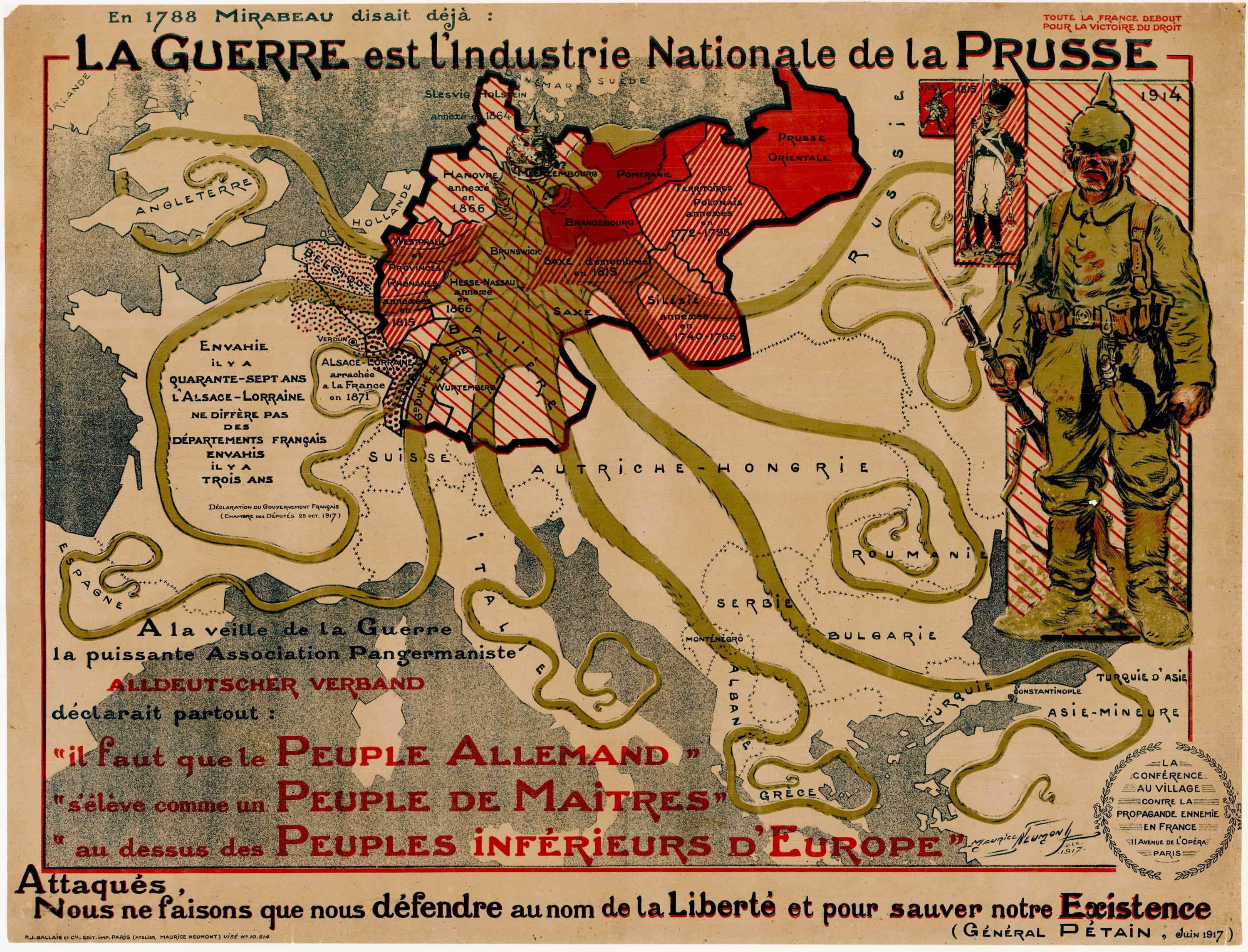 Propaganda map attacking prussia in first world war first world war propaganda map portraying prussia as an octopus gumiabroncs Images