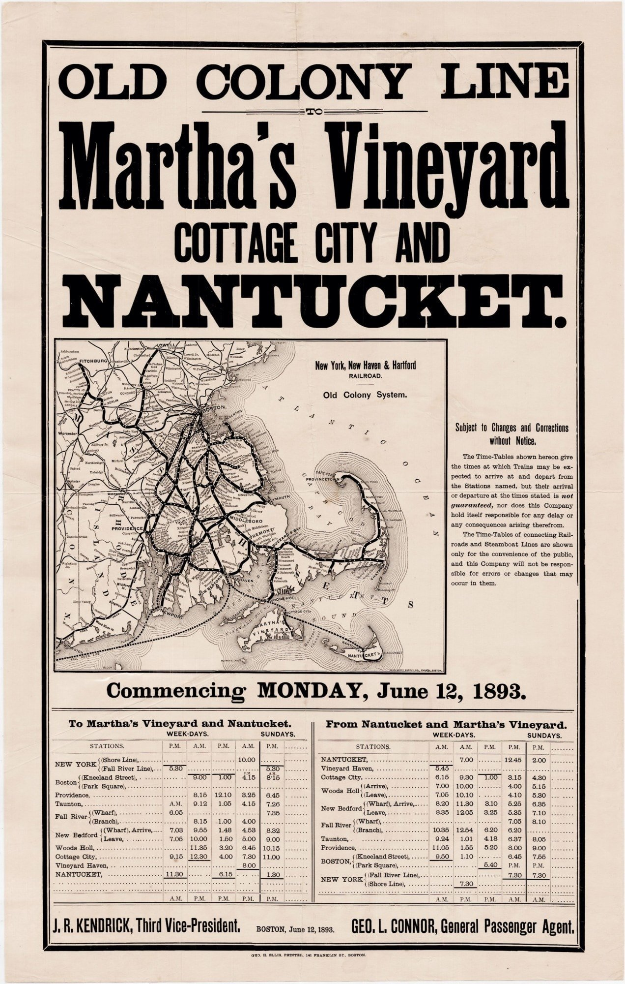 Cape Cod 5 Nantucket Part - 38: Early Tourist Poster For Cape Cod And The Islands