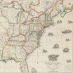 Shelton & Kensett / Engraved by A[mos] Doolittle New Haven & T[homas] Kensett Cheshire, AN IMPROVED MAP of the United States BY Shelton & Kensett. Cheshire, Conn., Nov. 8, 1813.