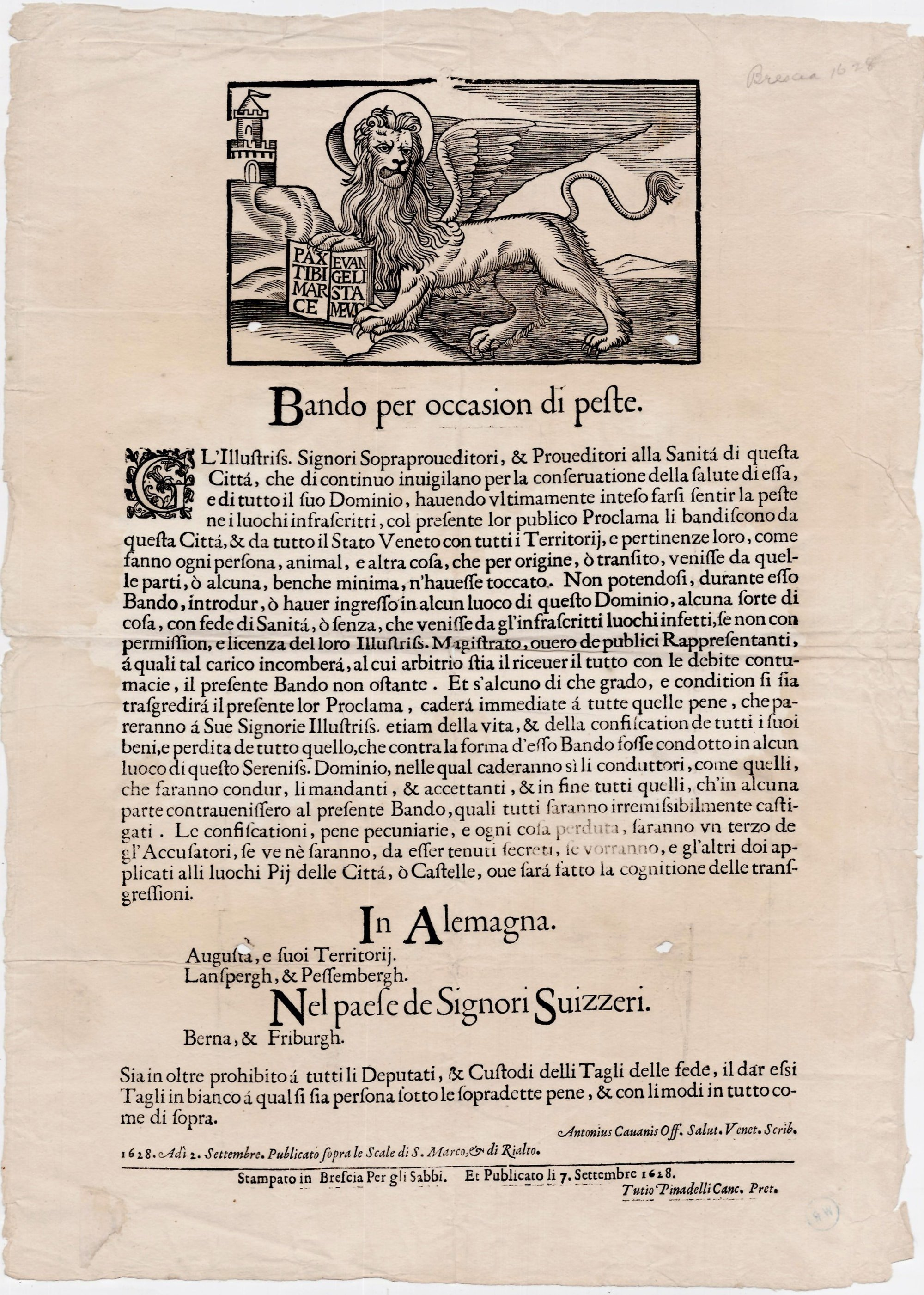 Extraordinary broadside from a time of plague - Rare & Antique Maps