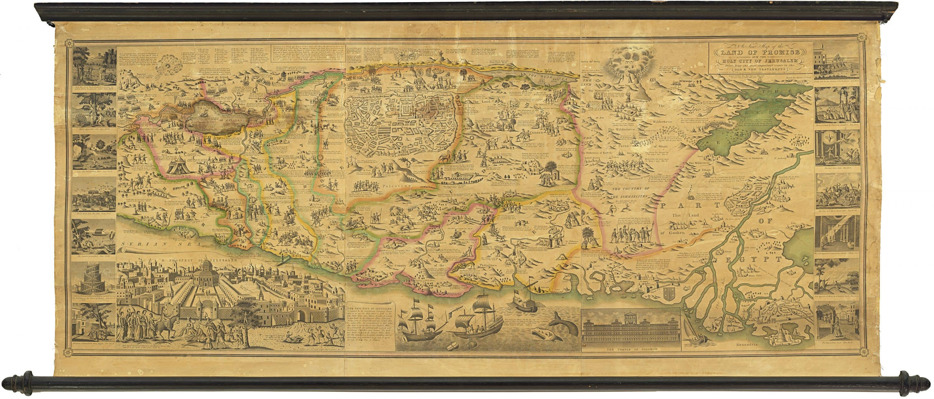A spectacular American map of the Holy Land - Rare & Antique ... on map of europe holy land, bible map holy land, printable map of holy land, map of holy land today, map of holy land during joshua, large map of holy land, map of jonah's time, map holy land israel, map of bethlehem, modern map of holy land, map holy land in jesus day, map of christian holy land, map of the holy land, map world holy land, map of holy land jesus, cities in the holy land, map of jewish holy land, model of jerusalem holy land, current map of holy land, biblical map holy land,