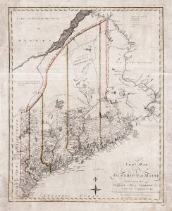 Exceptionally rare map of Maine by John Norman