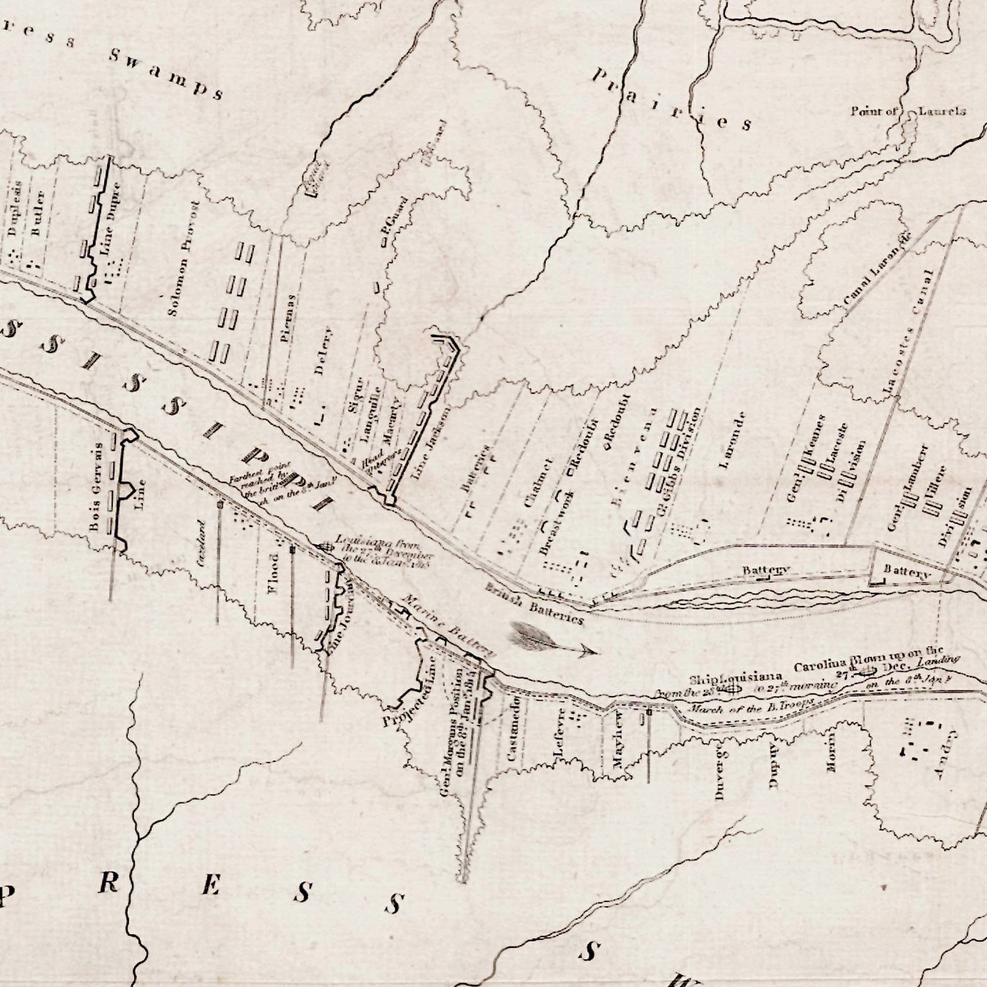 The Battle of New Orleans Rare Antique Maps