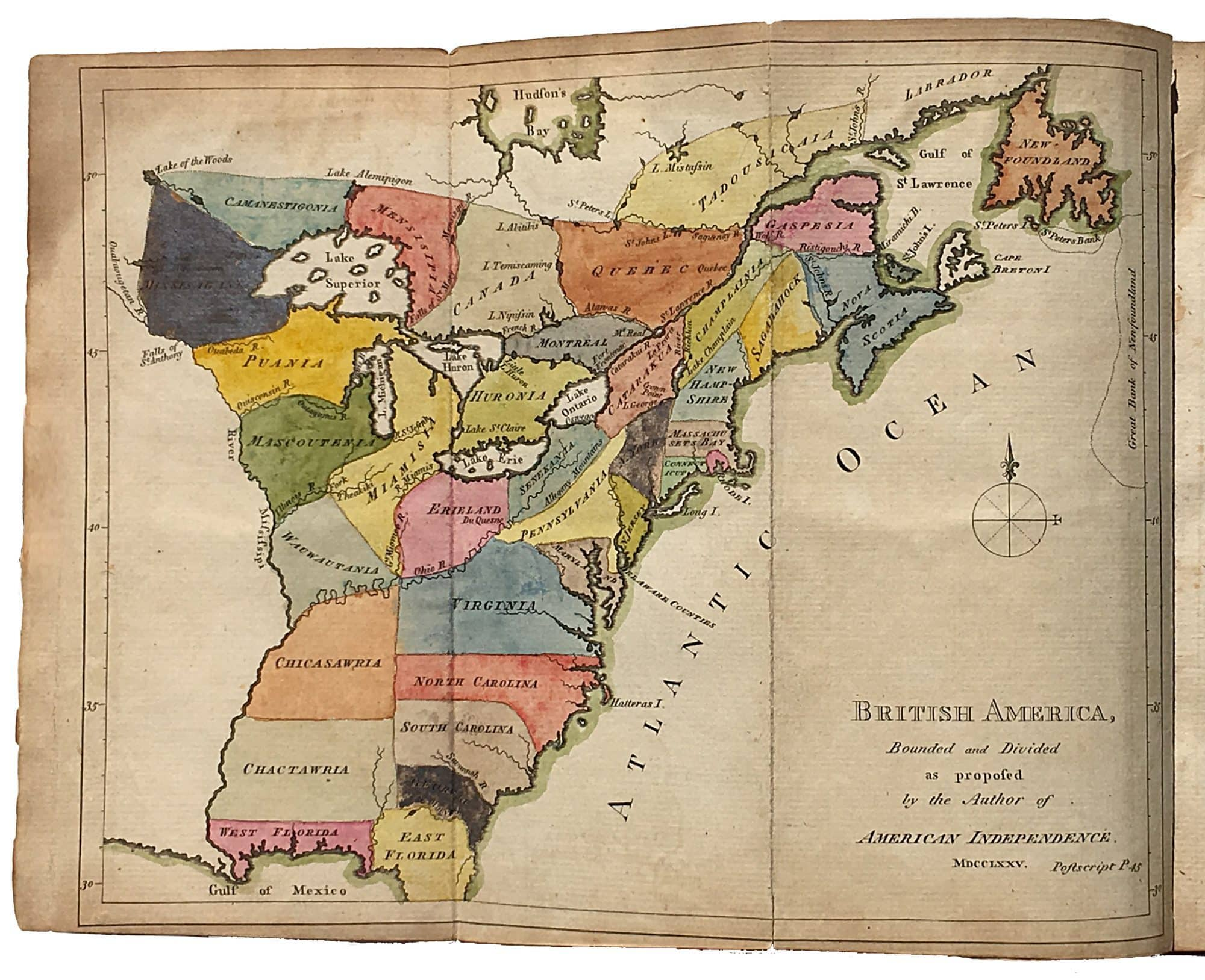 With the first map to propose American independence - Rare ...