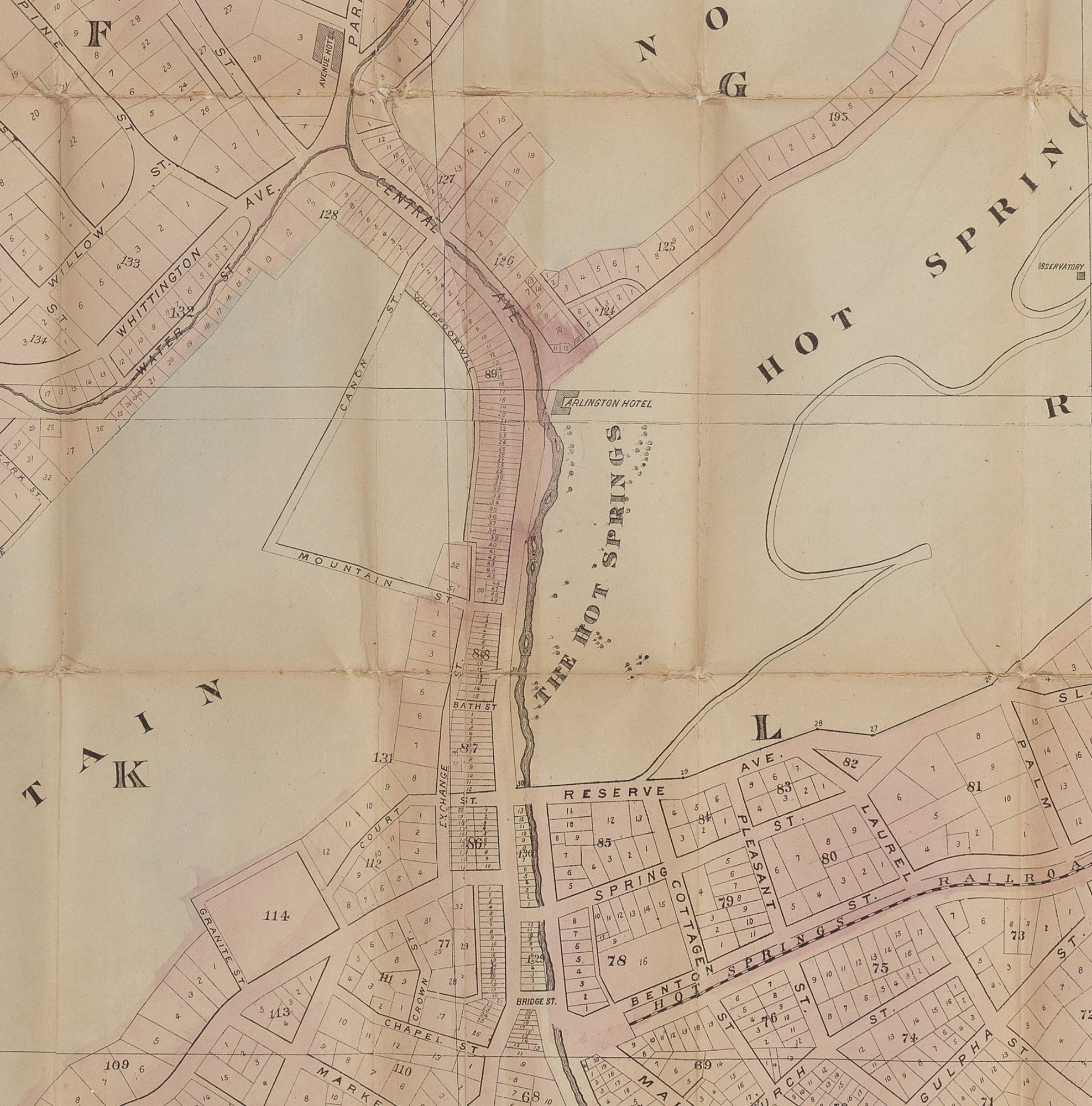 Hot Springs Arkansas Rare Antique Maps - Arkansas land ownership maps