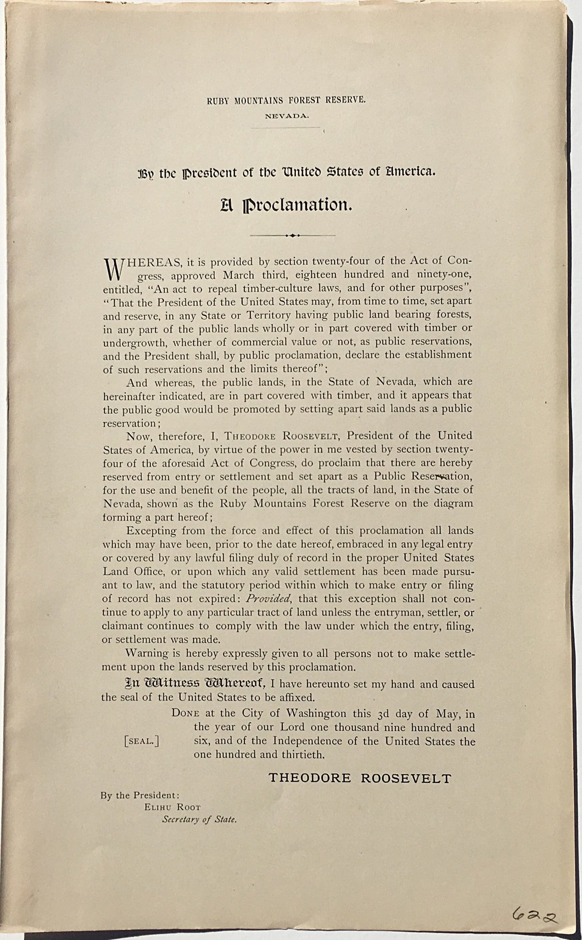 rare theodore roosevelt proclamations creating national