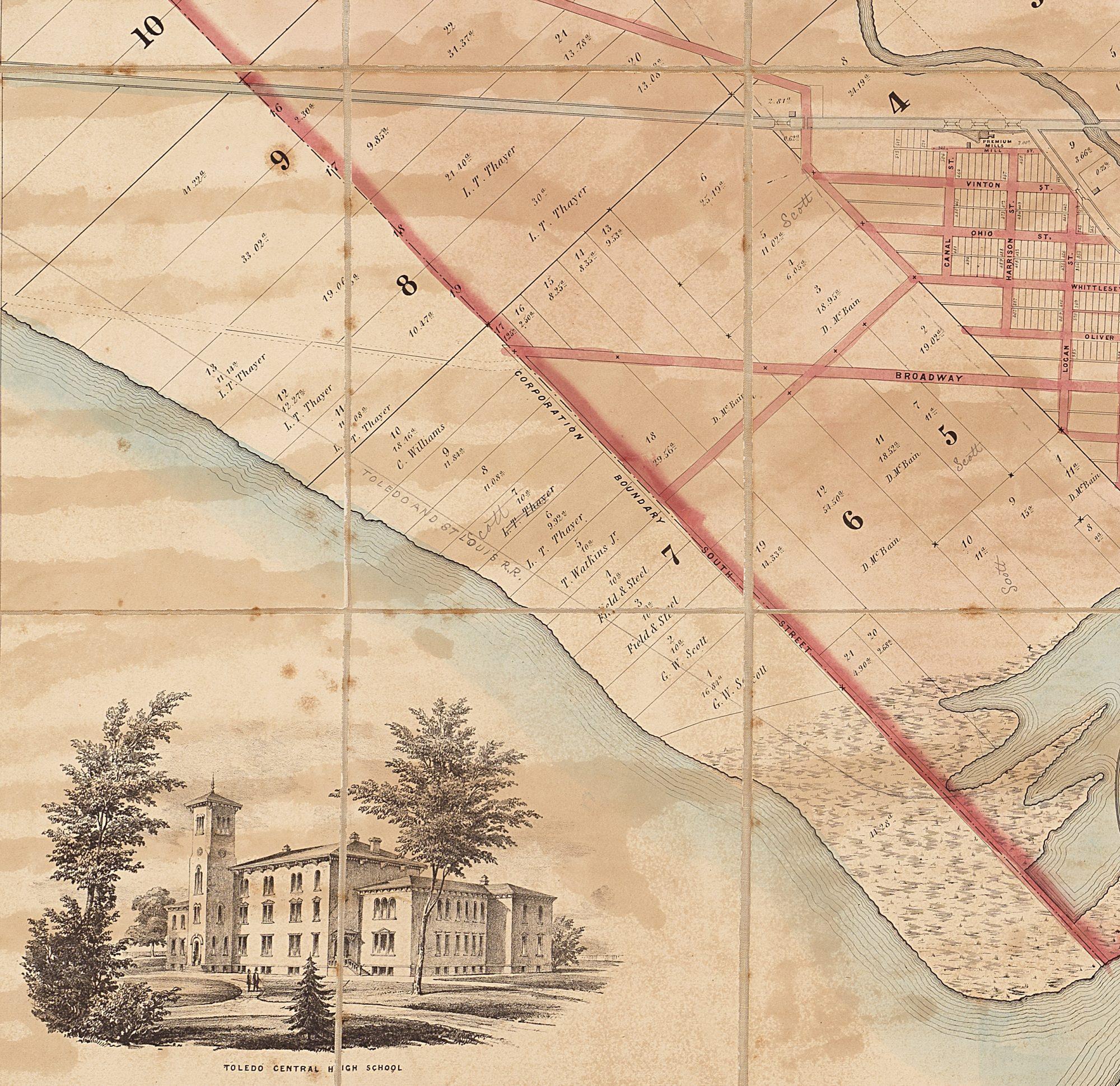 OHIO 1819 OH MAP Chippewa Indian Lake Caldwell Sylvan HISTORY VERY LARGE rare