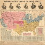 Striking Civil War bird's-eye view of the Middle Atlantic