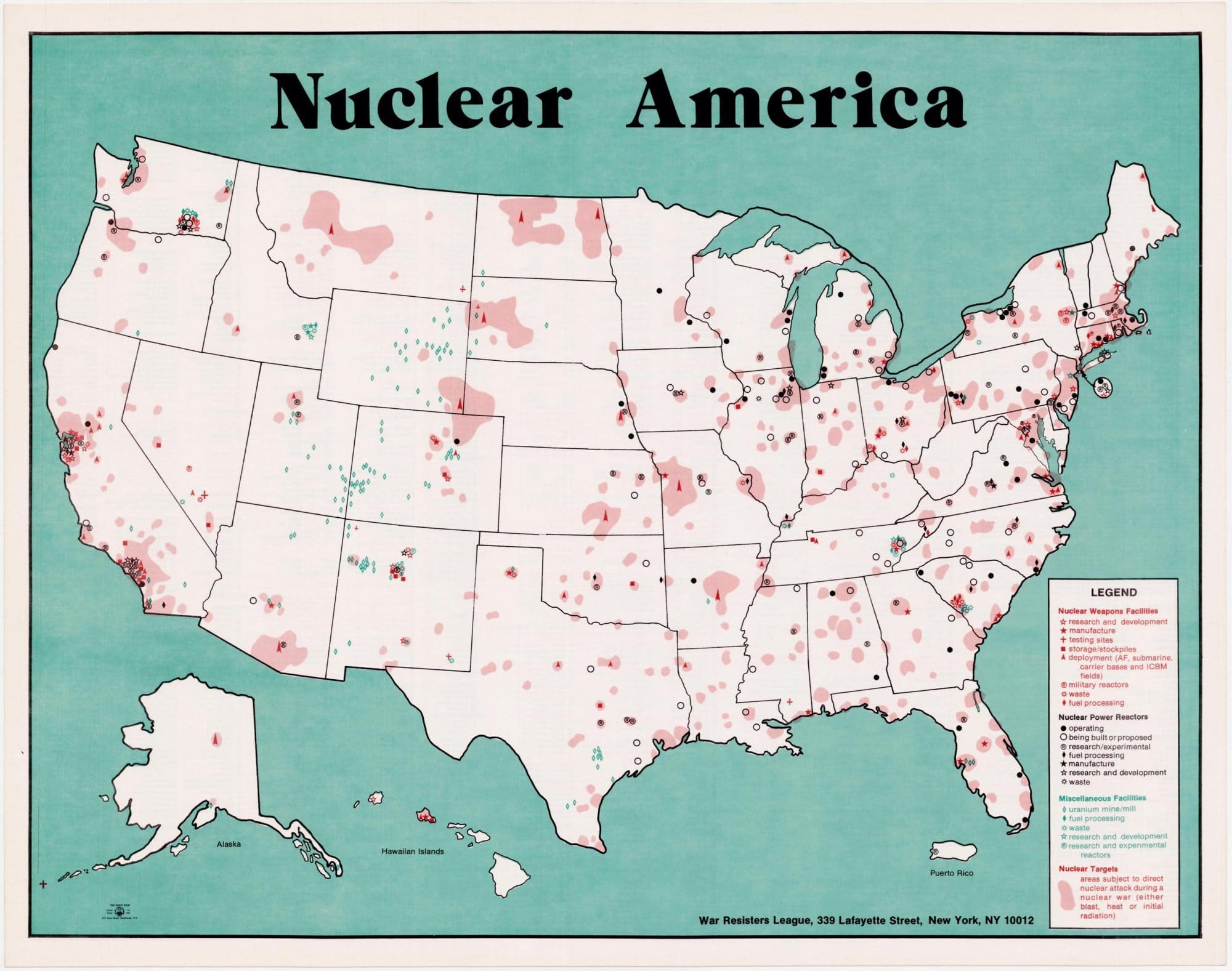 Four anti-war maps by the War Resisters League (last of 10 ...