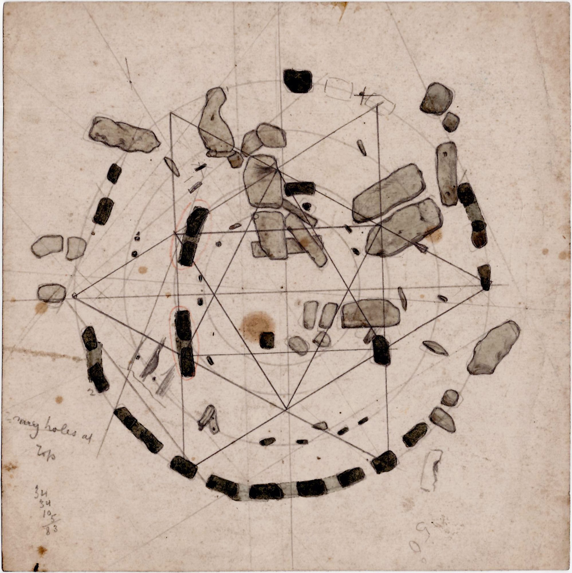 Stonehenge  An Archive Of Manuscript Maps  Plans And Drawings