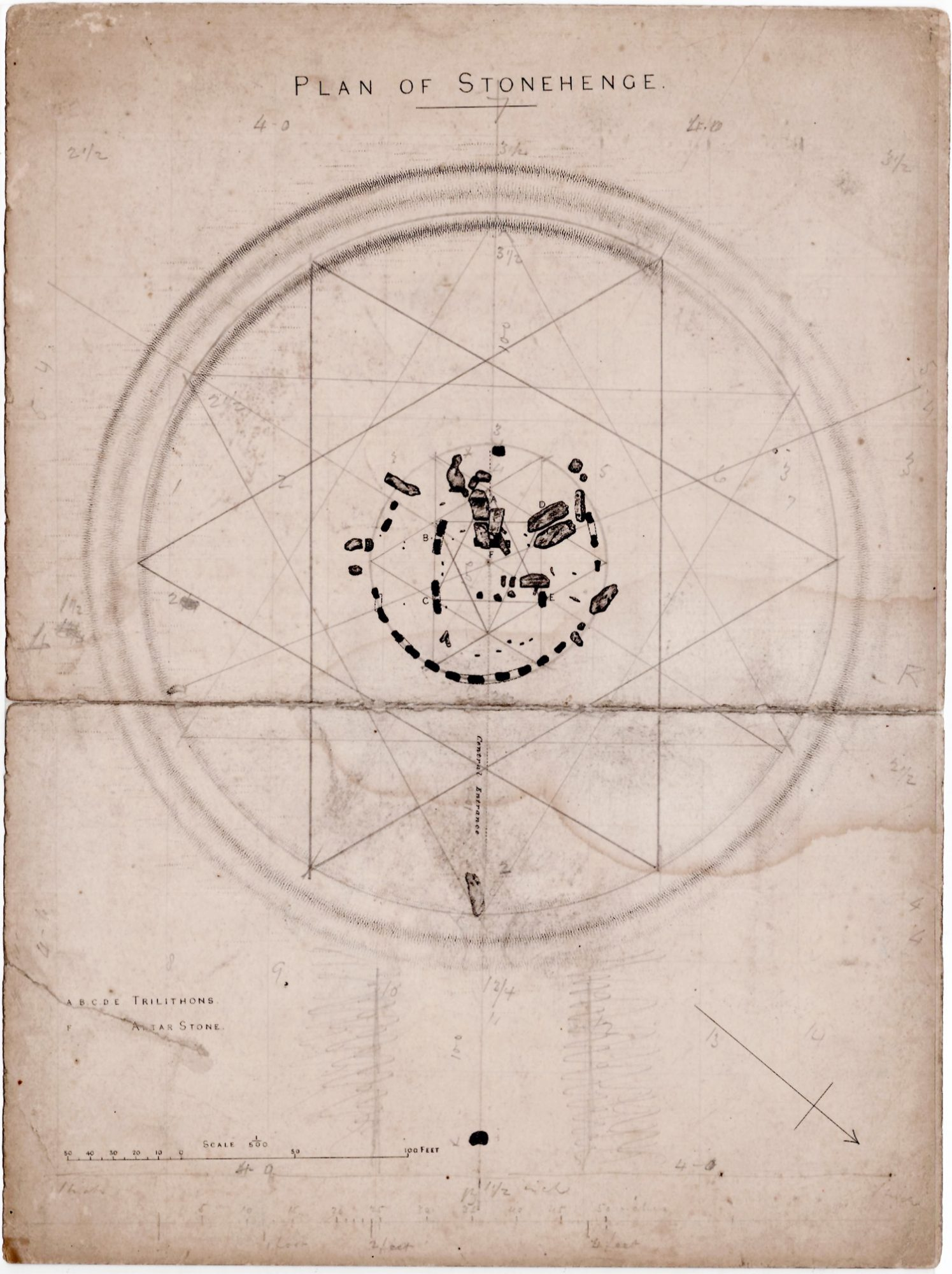 Stonehenge  An Archive Of Manuscript Maps  Plans And