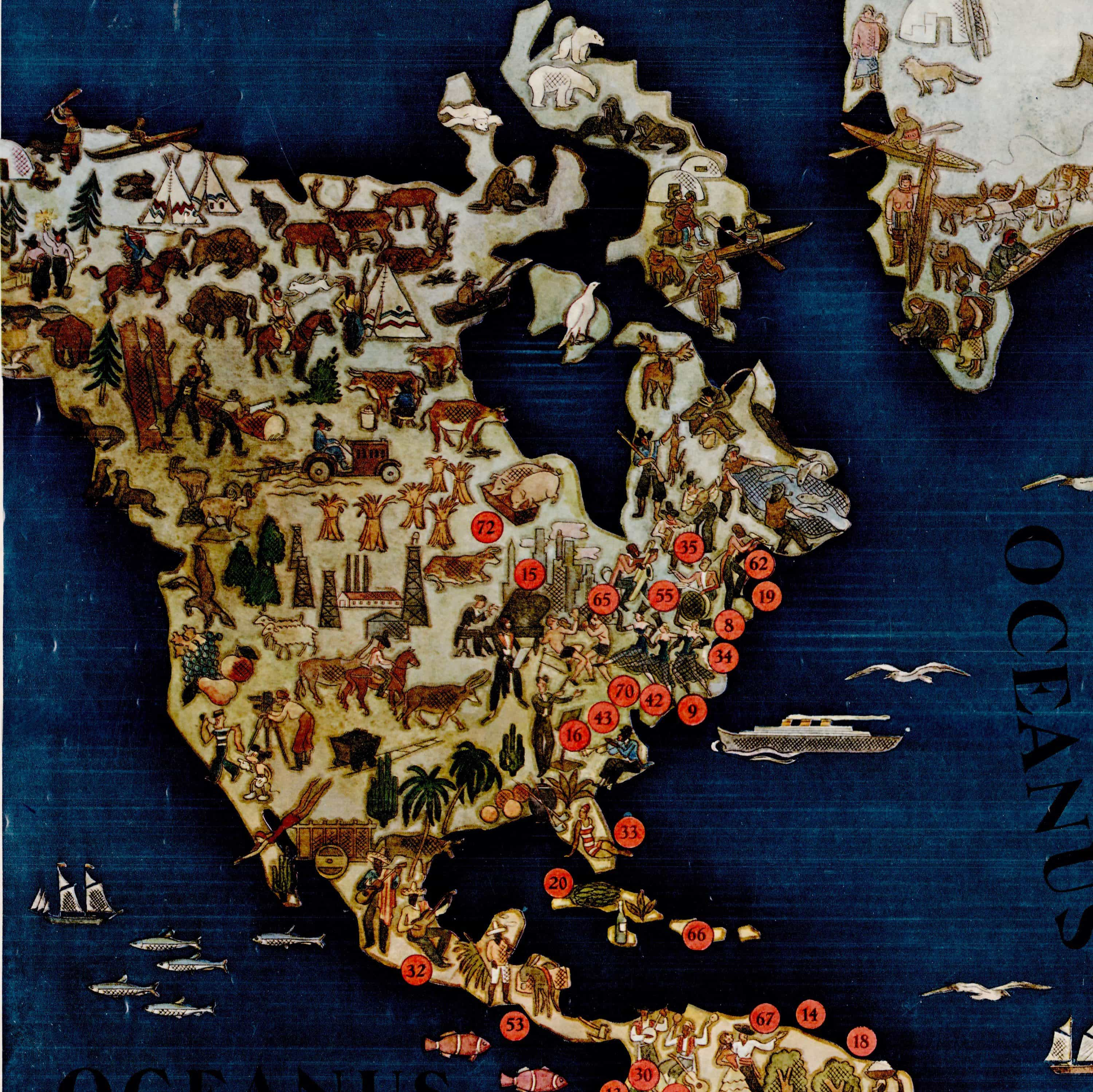 Spectacular philips radio pictorial map rare antique maps share this map gumiabroncs Gallery