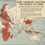 First World War propaganda map portraying Prussia as an octopus