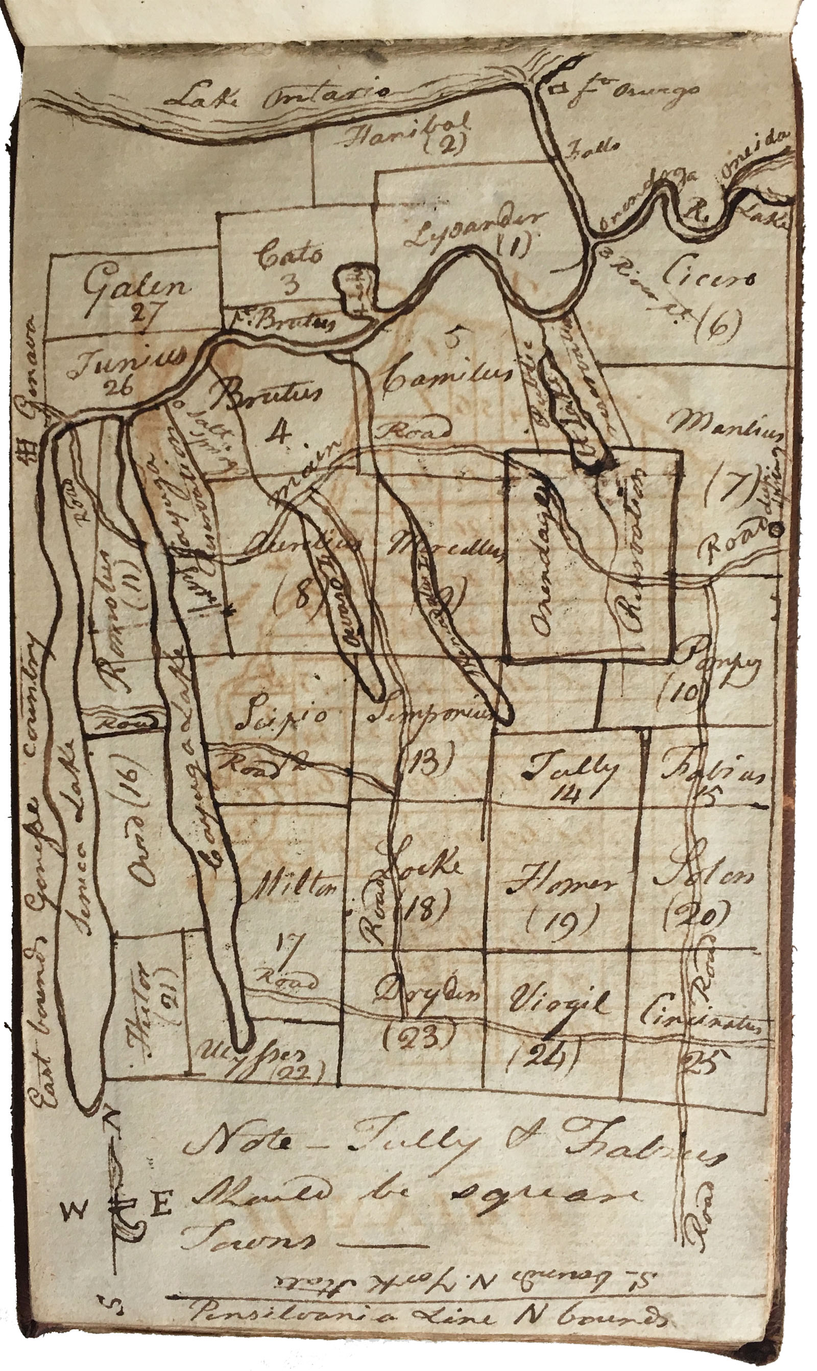 An Unknown 18th-century American Atlas Of The New York Military Tract