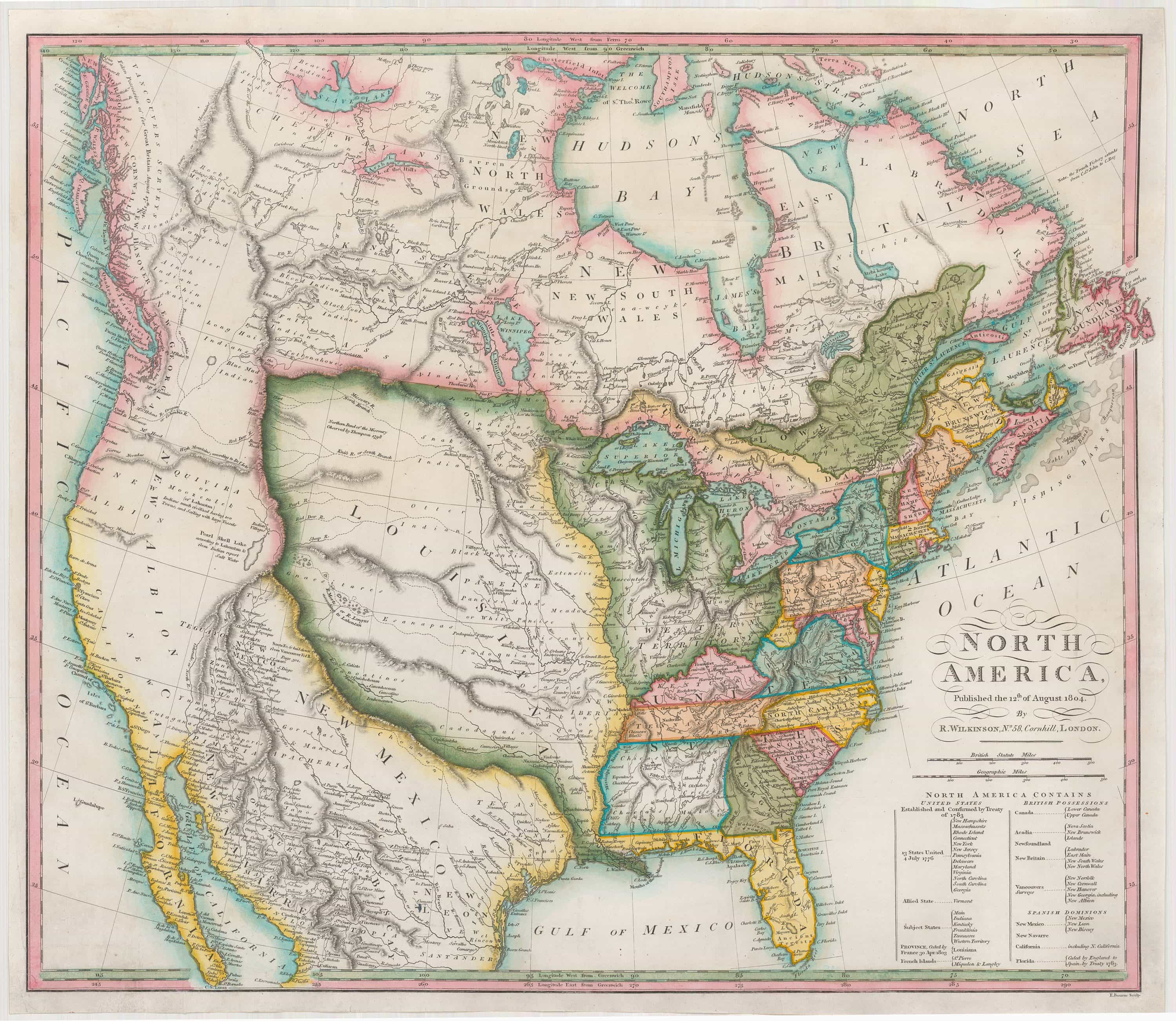 Map Of Louisiana Territory.First Map To Illustrate The Louisiana Purchase In Full Rare