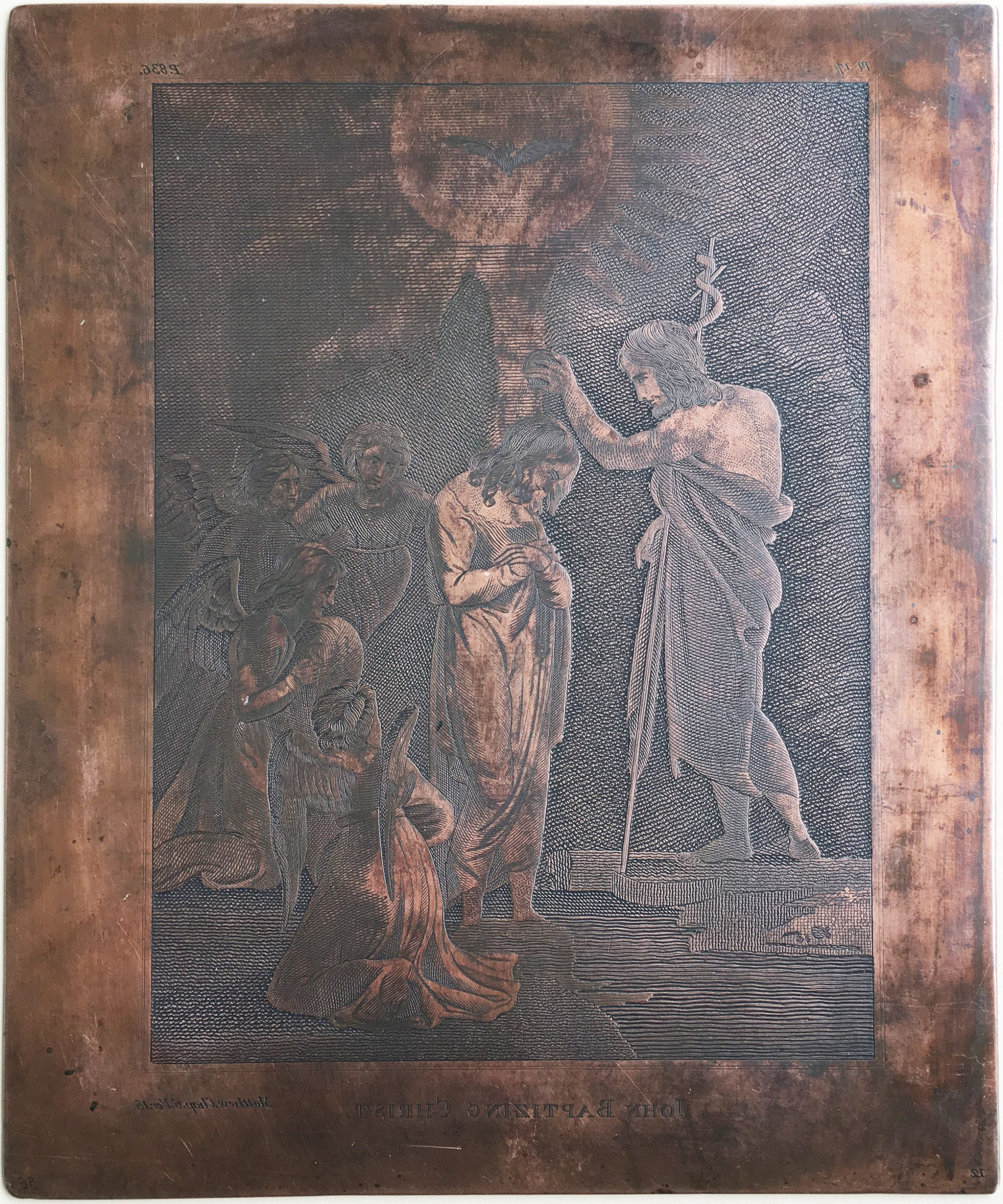 Engraved copper printing plate probably executed for Matthew Carey & Engraved copper printing plate probably executed for Matthew Carey ...