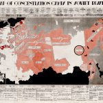 """A """"persuasive map"""" cdocumenting the extent of the Russian gulag system."""