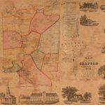 1855 wall map of Grafton Massachusetts