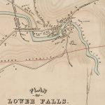 1849 manuscript plan of Lower Falls on Charles River