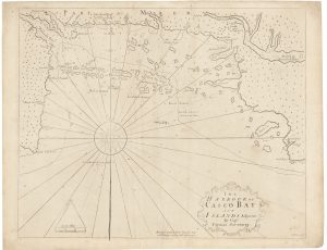 Cyprian Southack 1720 chart of Casco Bay Maine