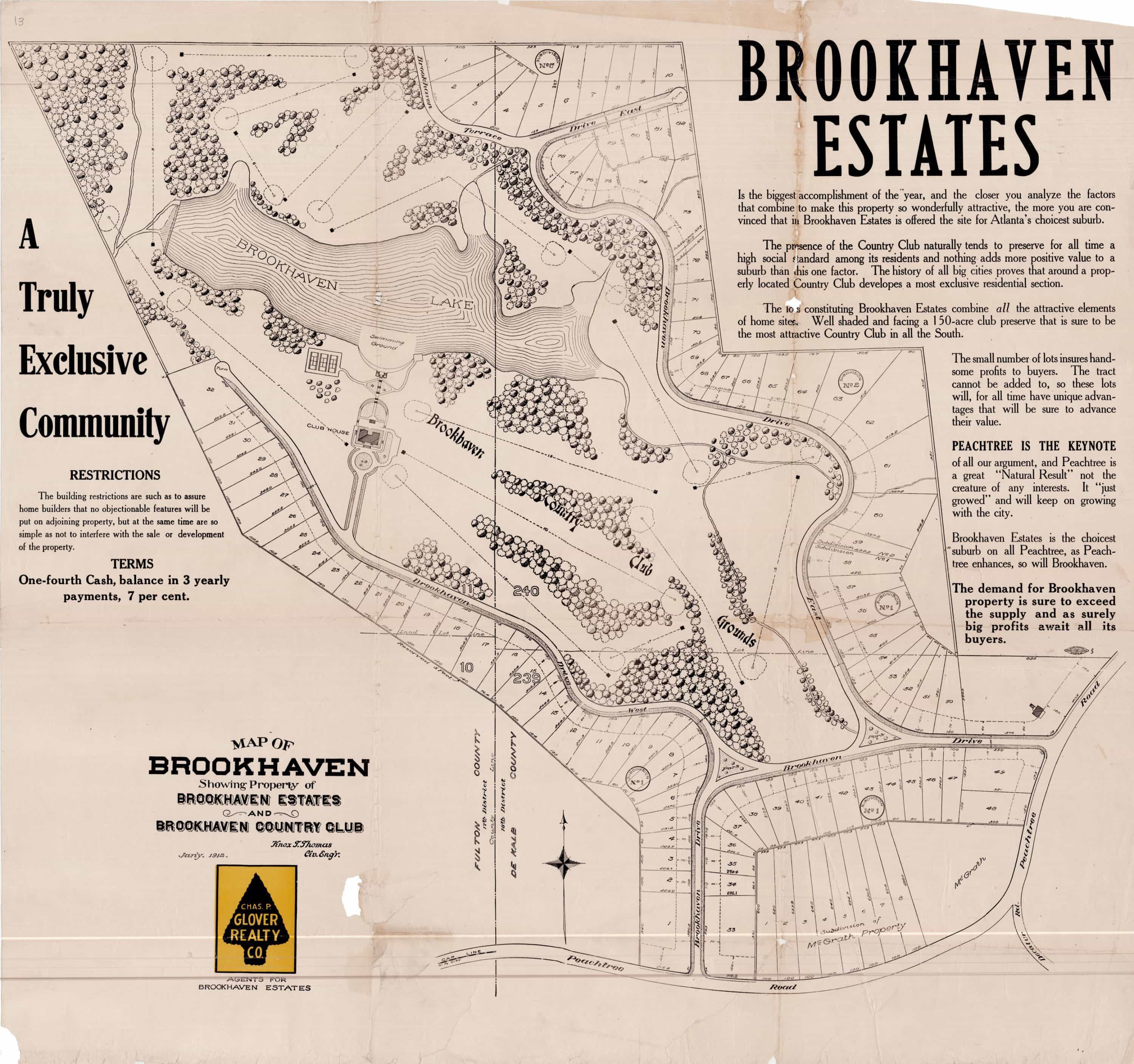 Atlanta Georgia Real Estate Maps Several With Jim Crow Content - Brookhaven ga on us map