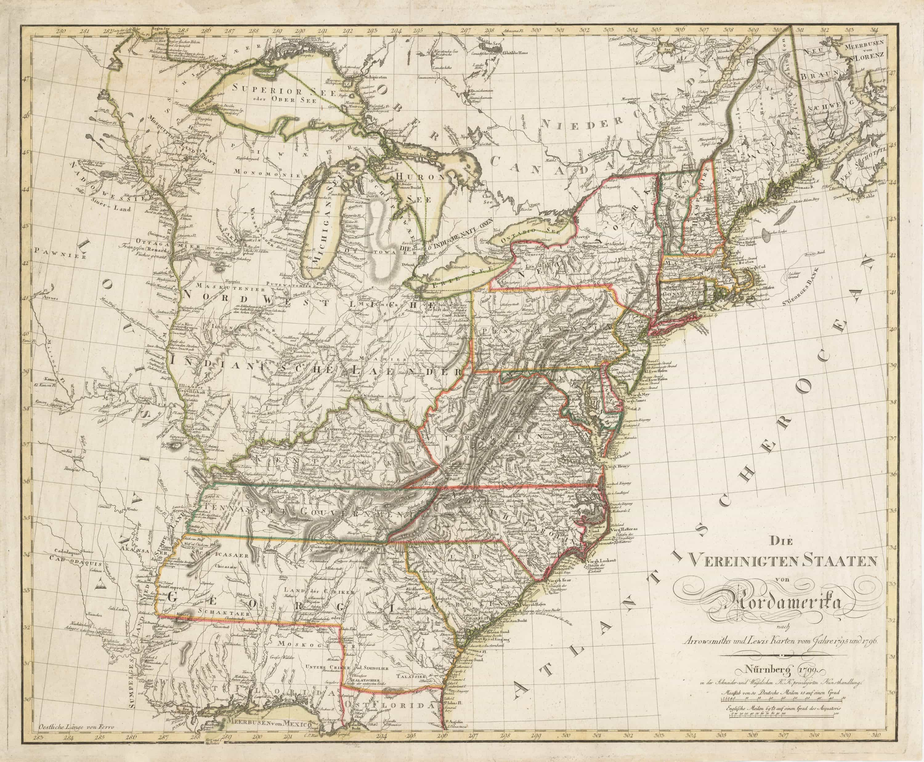A remarkable Sotzmann map of the United States - Rare ...
