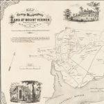1859 map of George Washington's Mount Vernon estate