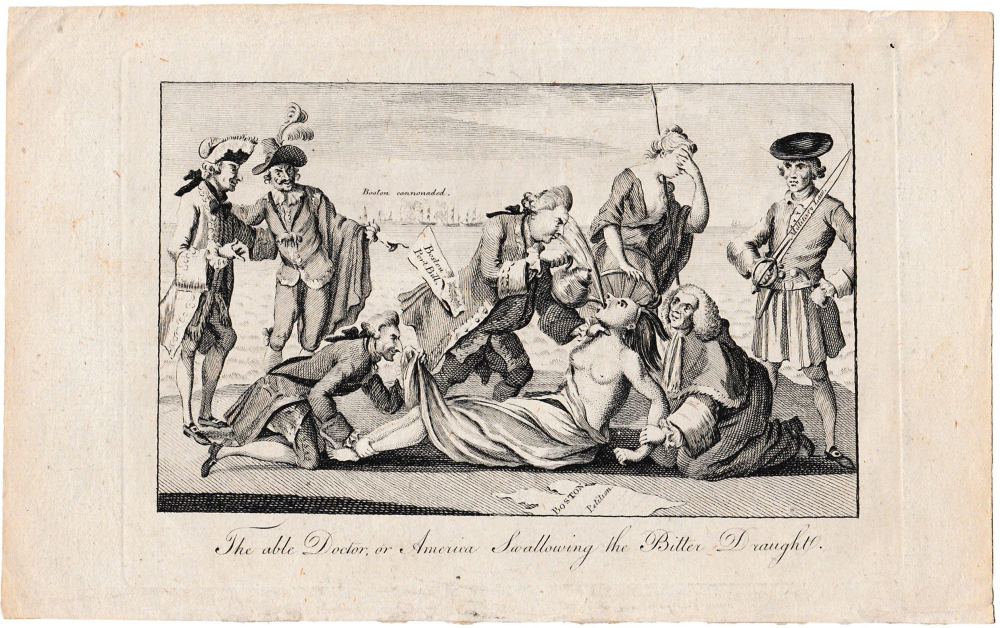 "Lord North satirized in 1774 as "" The Able Doctor """