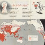 Theodore Geisel anti malaria poster, THIS IS Ann.. …she drinks blood! [verso:] NEWSMAP / MONDAY, NOVEMBER 8, 1943. Washington, D.C., 1943.