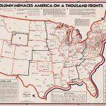 1941 Constitutional Education League anti Communist map