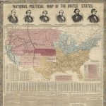 NATIONAL POLITICAL MAP OF THE UNITED STATES. New York: A[dolphus] Ranney, / Chicago: Rufus Blanchard, [July-October, 1856.]