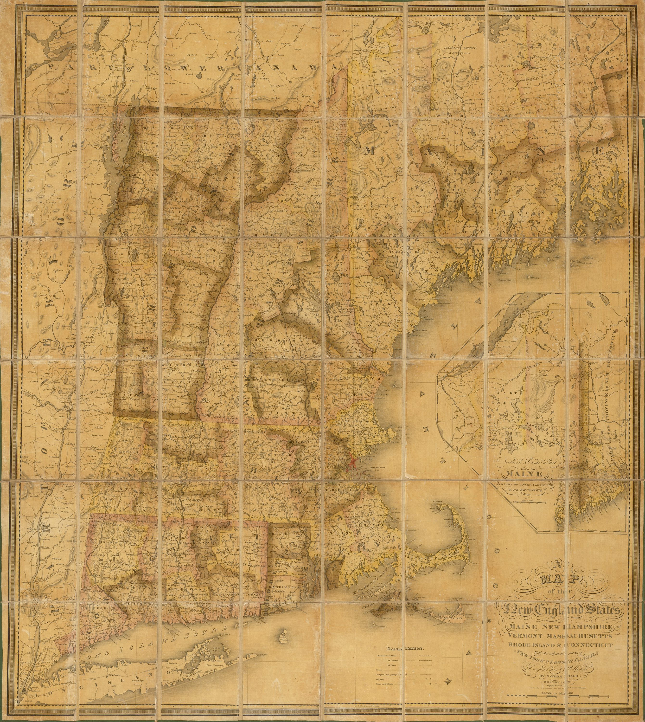 A landmark 1826 map New England