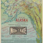 1897 Nickel Plate Road promotional Alaska map