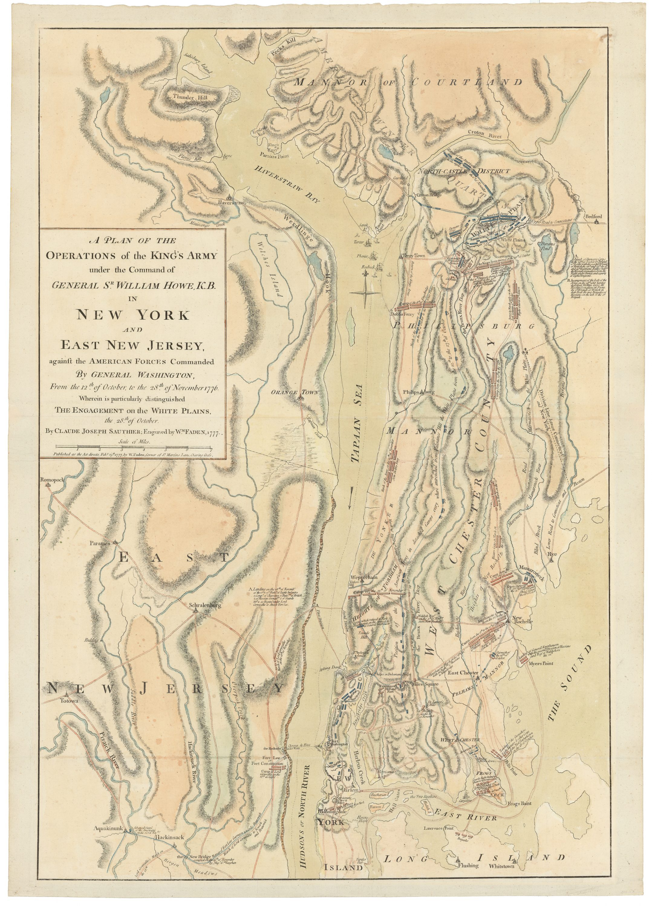SauthierFaden map of the 1776 New York campaign culminating in the