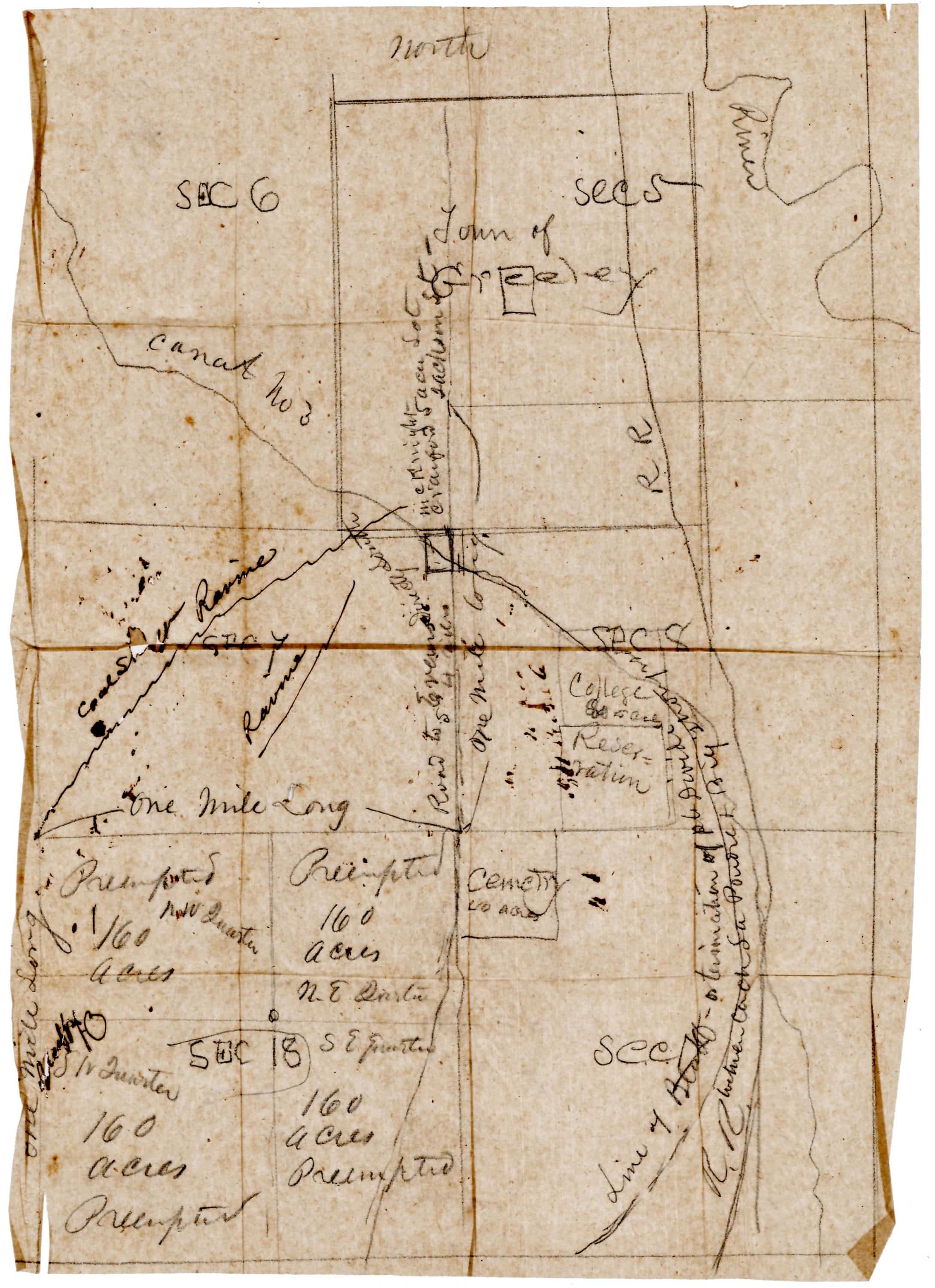 Archive of maps and letters from the earliest years of the Union