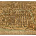 Rare 1898 bird's-eye view of Chicago