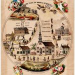 """1862 allegorical map of the """"Way of Good and Evil"""""""