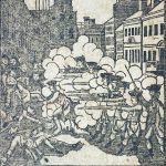 1771 Massachusetts Calendar edition of Paul Revere Bloody Massacre