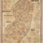 1860 William Kitchell Topographcical Map of the State of New Jersey