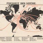 1918 Freiheit der Meere octopus map